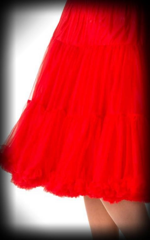 Petticoat lang Rockabella - rot  Pin Up Style
