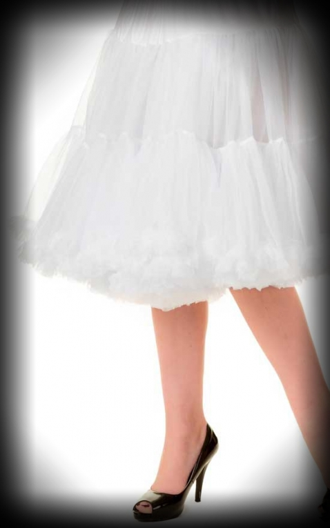 Petticoat long Rockabella - white