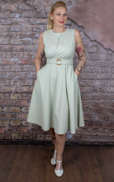 Banned Swingkleid Hepburn Grid Check