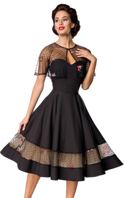 Belsira - Noble dété Robe Swing avec cape