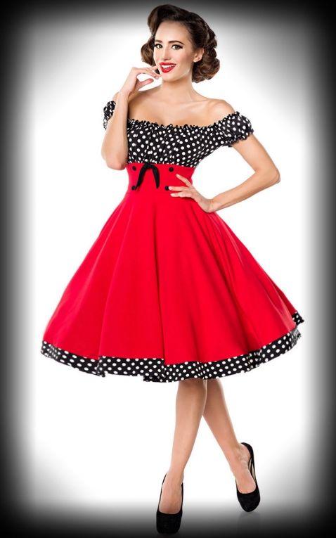 Belsira - Schulterfreies Swingkleid Carry Ann