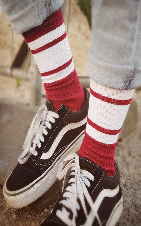 Lo Chaussettes Skate Big Red