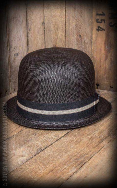 Bigalli Hats - Chapeau Melon Derby Stingy, noir