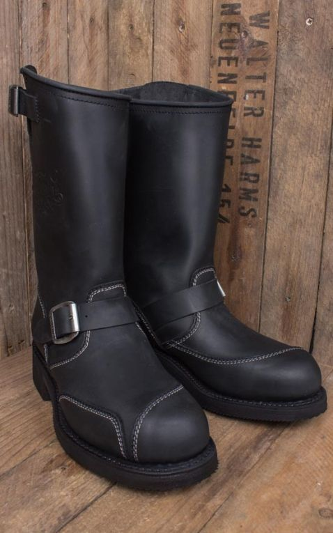 Rumble59 Biker Boots - Made by Sendra - schwarz