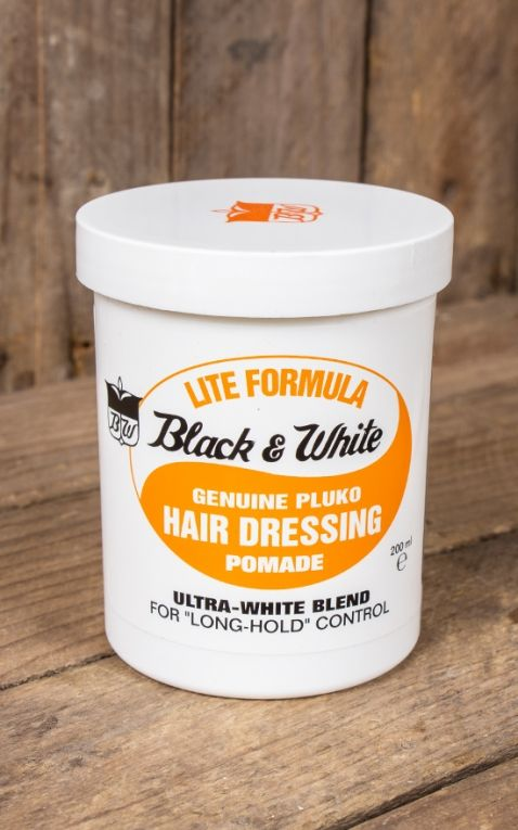 Black & White Hair Dressing Pomade - Light