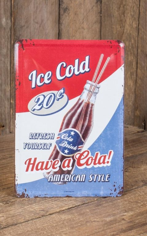 Tin-Plate Postcard - Have a Cola