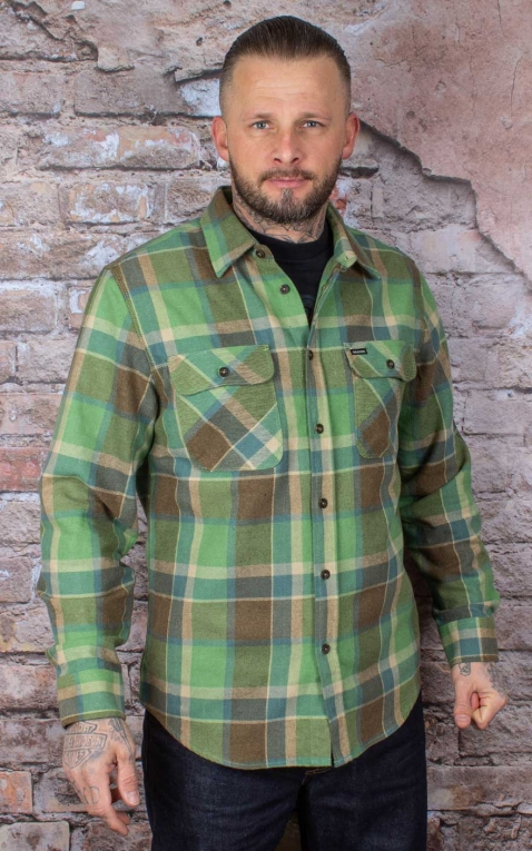 Brixton - Flannel Shirt Bowery, Toffee