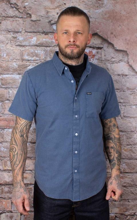 Brixton Shirt Charter Oxford S/S Woven, Joe Blue Sun Wash