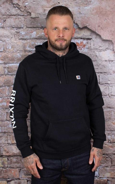Brixton - Hoodie Sweatshirt Alton Hood, schwarz