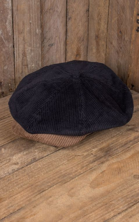 Brixton Brood Snap Cap, cord bison black