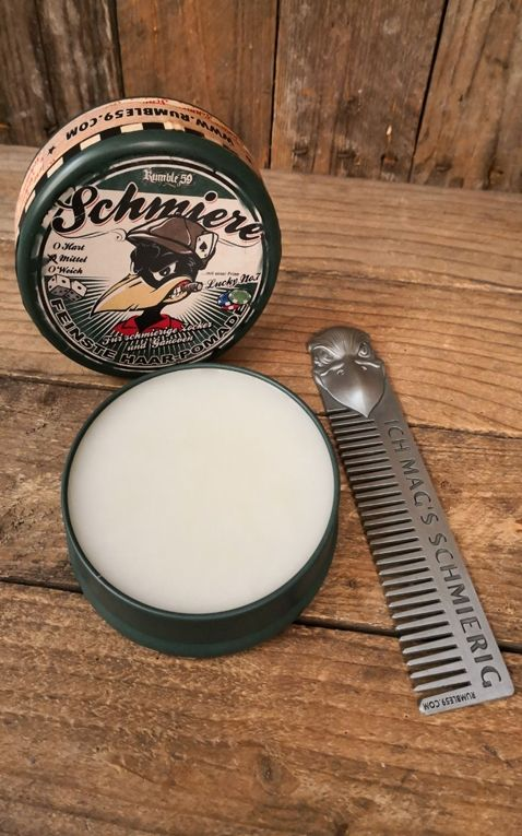 Rumble59 - Schmiere - Set Gambling Pomade + Comb Ich mags schmierig