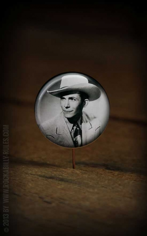 Button Hank Williams 005