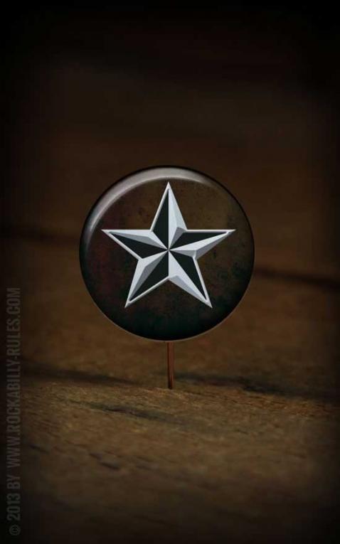 Button Nautical Star 042
