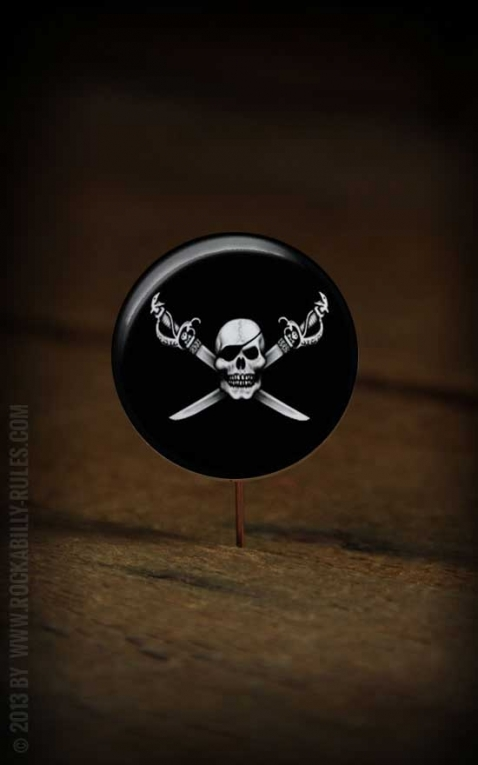 Button Cross Skull 116