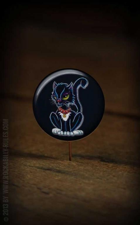 Button Black Cat 151