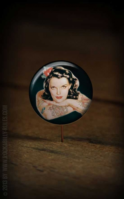 Button Tattooed Girl 179
