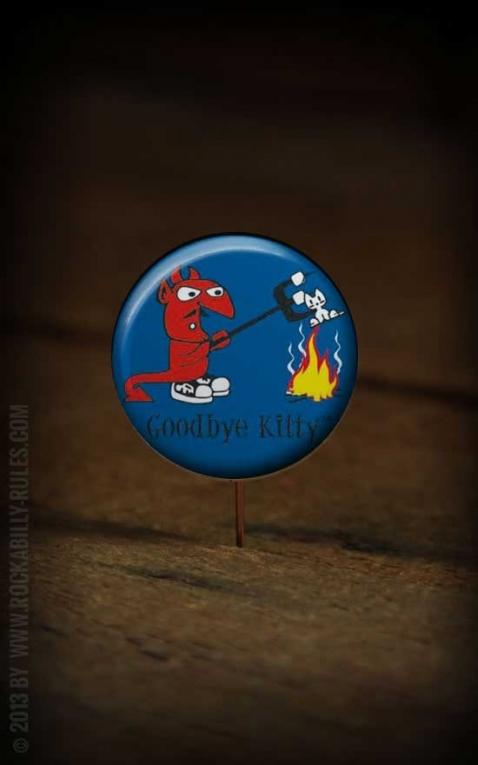 Button Good Bye Kitty 224