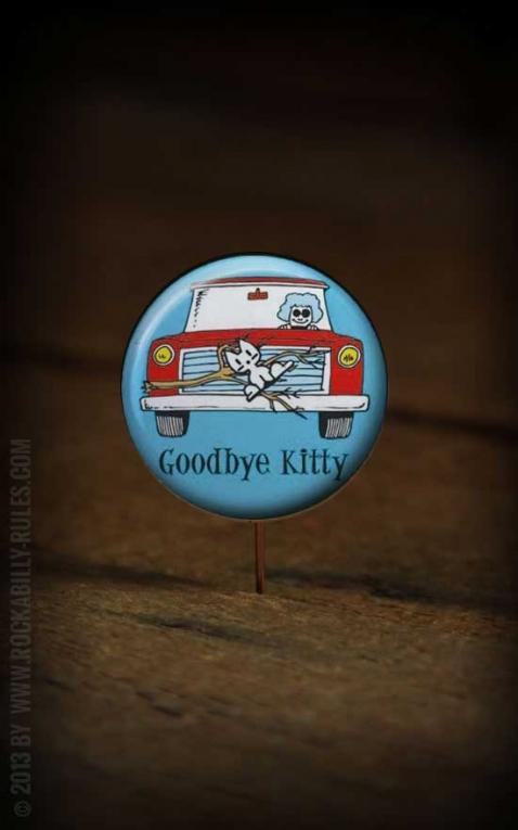 Button Good Bye Kitty 226