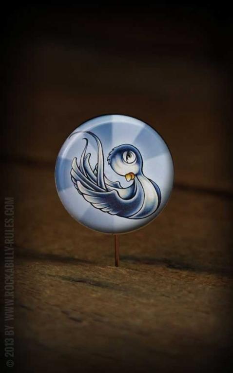 Button Schwalbe blau 270