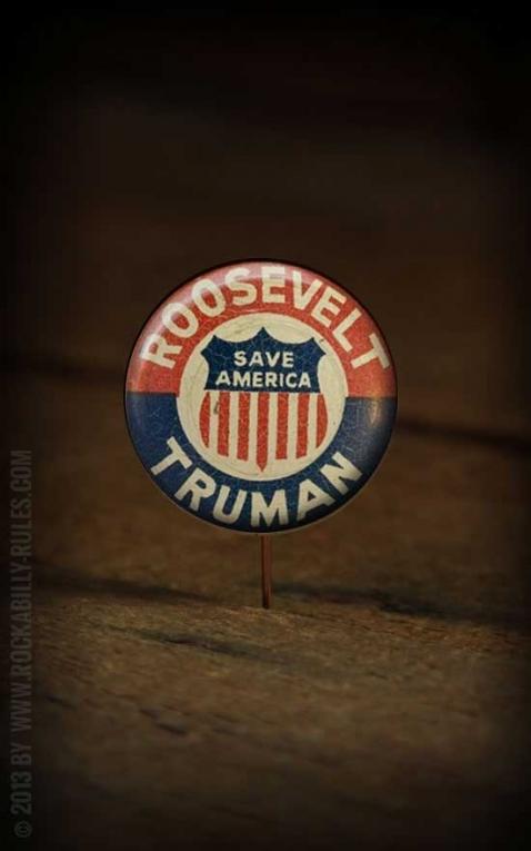 Button - Roosevelt Truman - 364