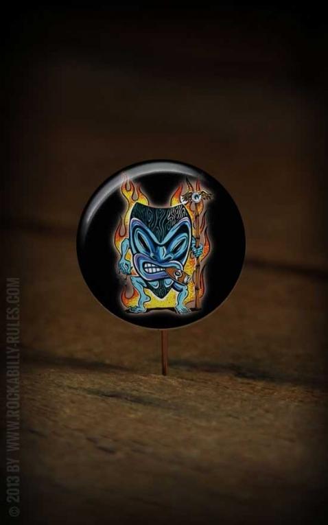 Button Tiki Flame 095