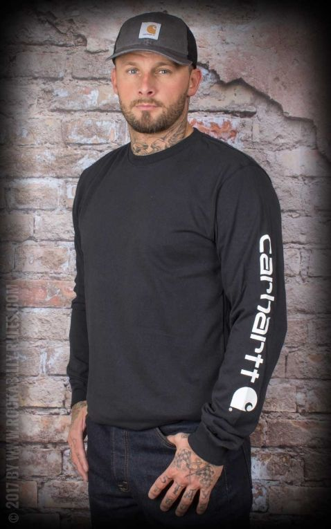 Carhartt - Long Sleeve Logo Shirt, black