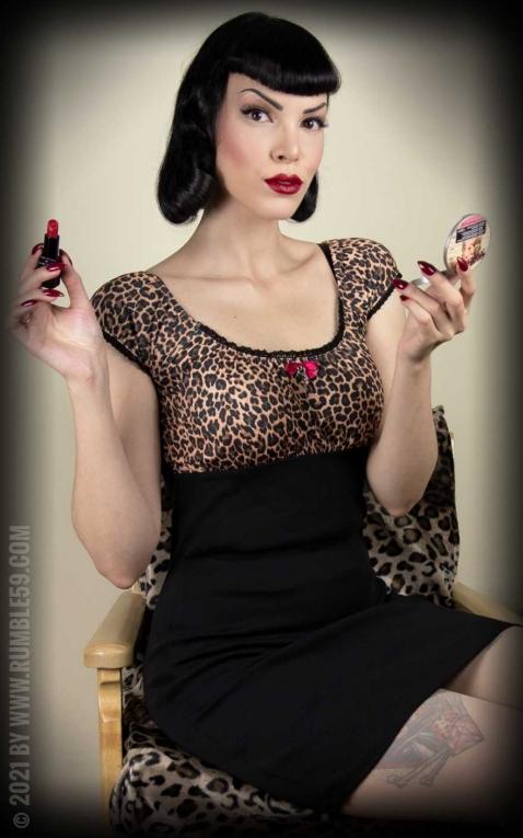 Rumble59 Ladies - Carmendress - Hot Leopard