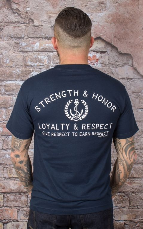 Cartel Ink Men T-Shirt - Strenght, Honor, Loyalty, Respect