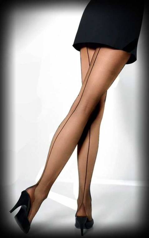 Cette Nylon tights with seam Vienna, nude