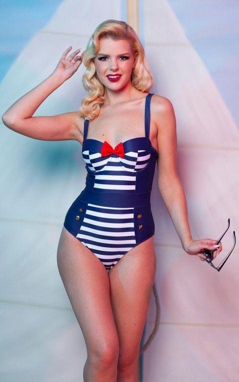 Collectif Maillot de bain Playful Promises Nautical Swimsuit