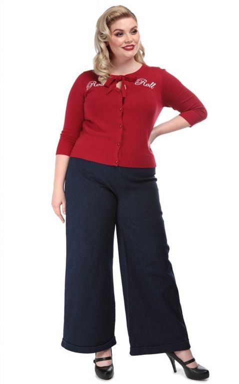 Collectif Cardigan Charlene Rock and Roll