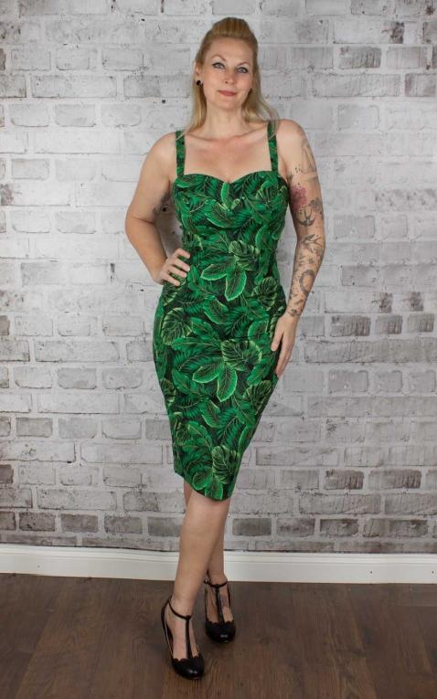 Collectif Kiana Tropics Pencil Skirt Kleid