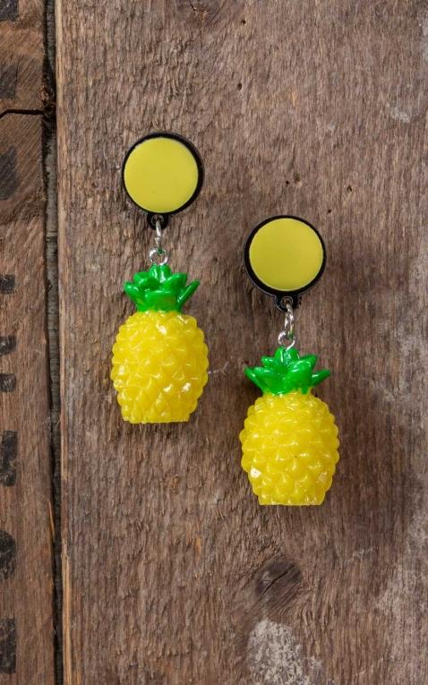 Collectif Boucles doreilles Ananas