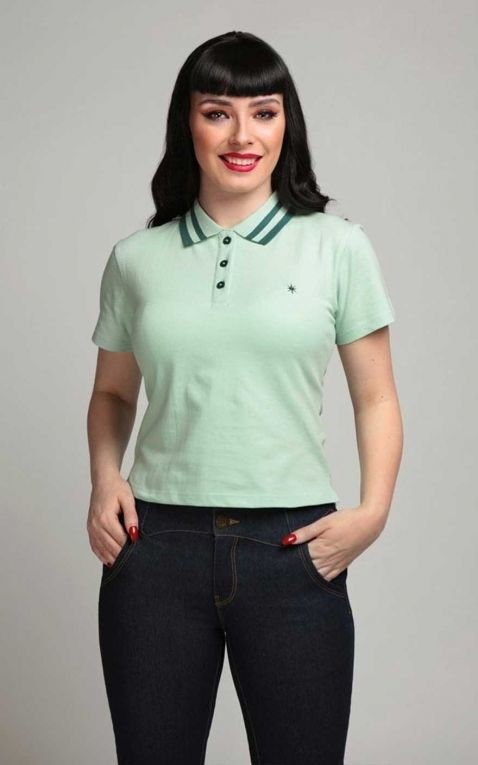 Collectif Ladies Polo Shirt April, mint
