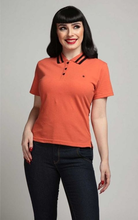 Collectif Ladies Polo Shirt April, orange