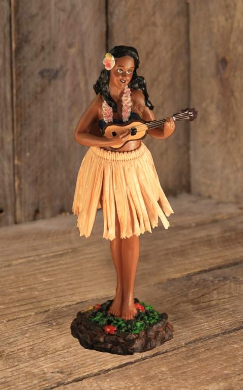 Armaturenbrettfigur | Dashboard Leilani Ukulele - Natural Skirt