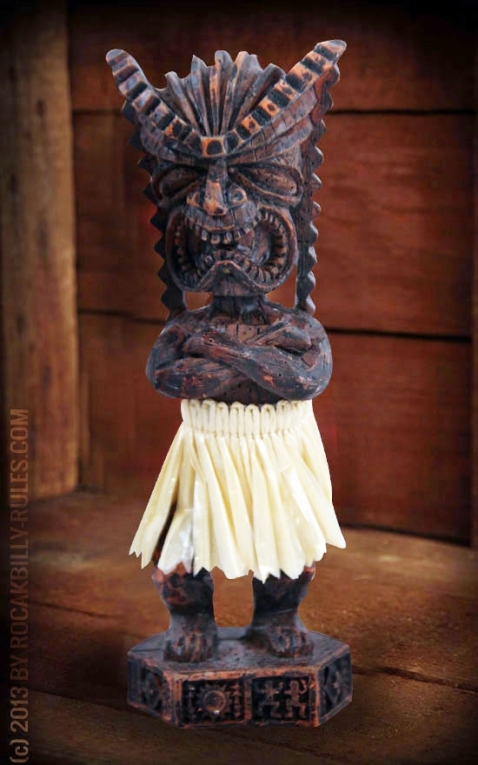 Miniature Dashboard Hula Doll - Money Tiki