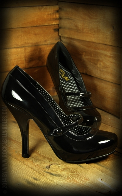 High Heels Mary Jane schwarz