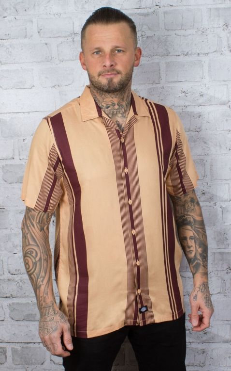 Dickies - Short Sleeve Shirt Forest Park, peach brulee