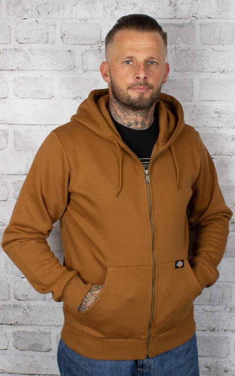 Dickies - Hoodie New Kingsley Zip Trough, brown duck
