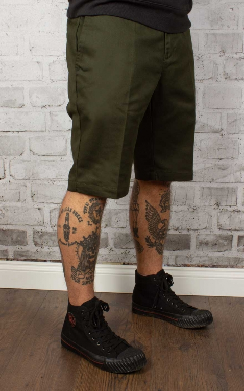 Dickies - Short coupe slim, olive green