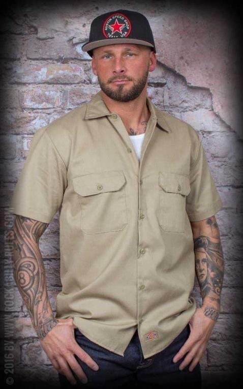 Dickies - Short Sleeve Work Shirt khaki