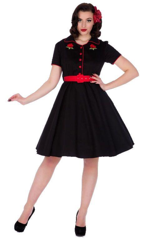 Dolly and Dotty - Sherry Rockabilly Diner Dress