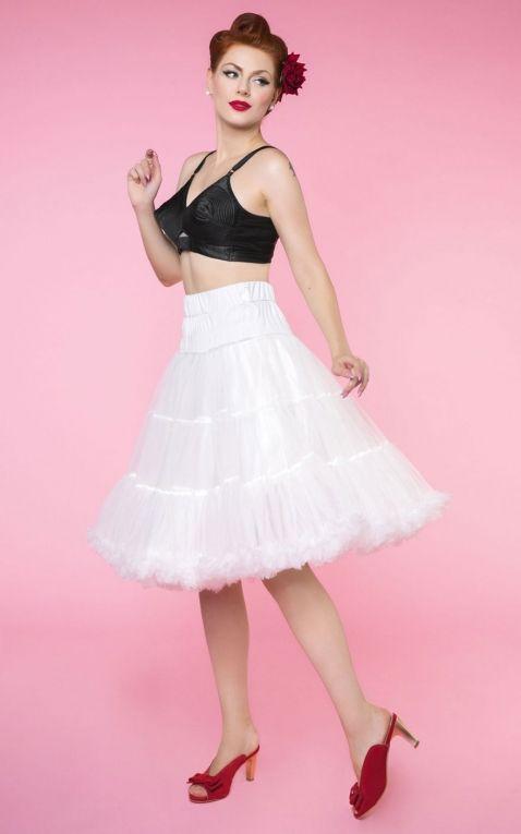 Dolly and Dotty Petticoat Fluffy weiß, größenverstellbar