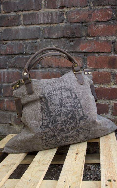 Donkey Swing Canvas Handbag Steering Wheel