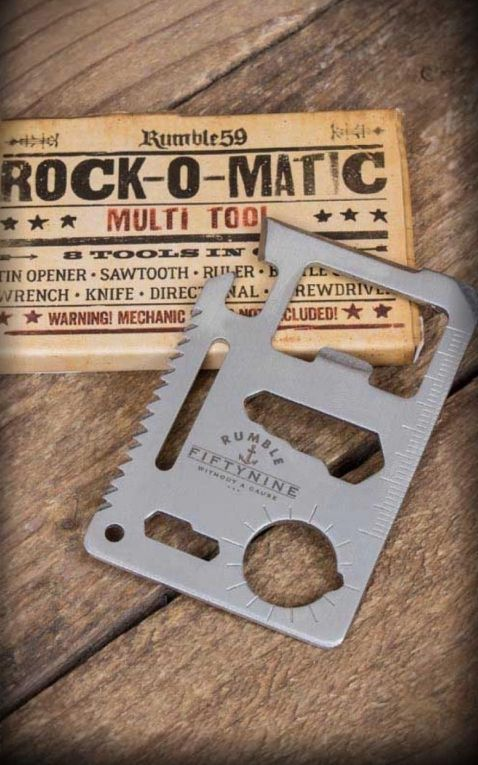 Rumble59 - Stainless Steel Wallet Multitool