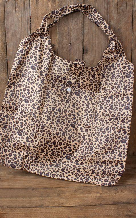 Faltbare Einkaufstasche Leopard
