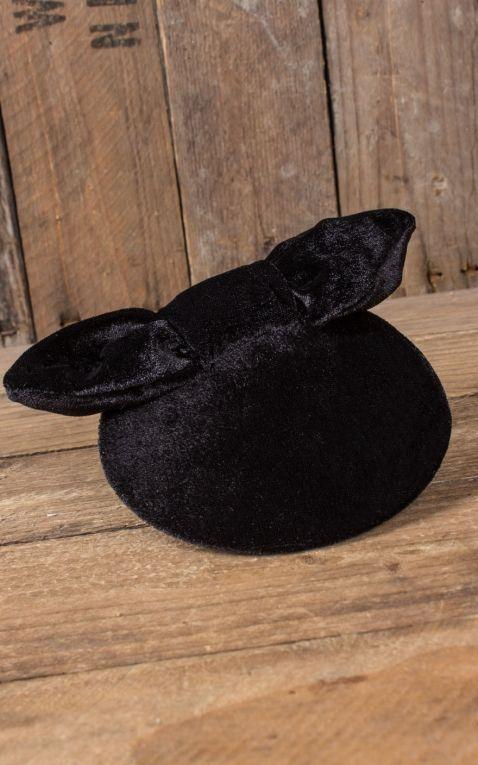 Mirandas Choice Fascinator seulement un noeud - velours noir