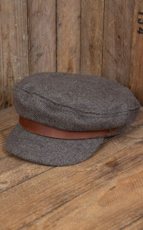 Brixton Fiddler Cap, braun grau