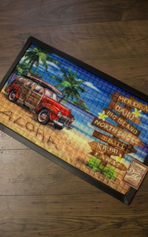 Doormat - Aloha from Hawaii | Beach Sign
